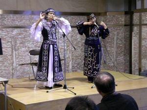 キルギスタン出身のカリマンさんと・・・網走北方民族博物館にて
