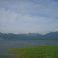 ちゅうるい島から見た阿寒湖畔
